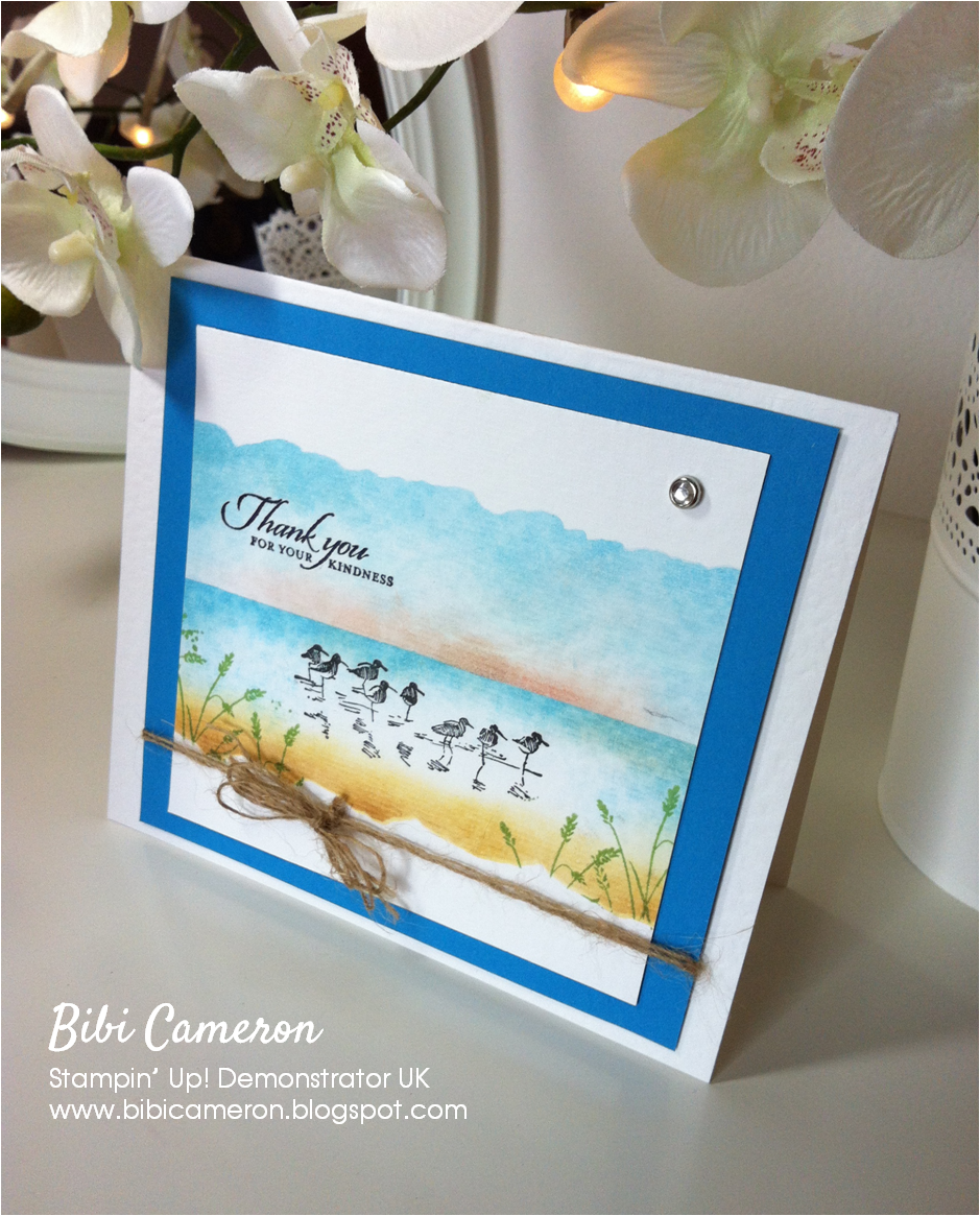 WETLANDS STAMP SET STAMPIN UP ♥ TEMPTING TURQUOISE BEACH SCENE