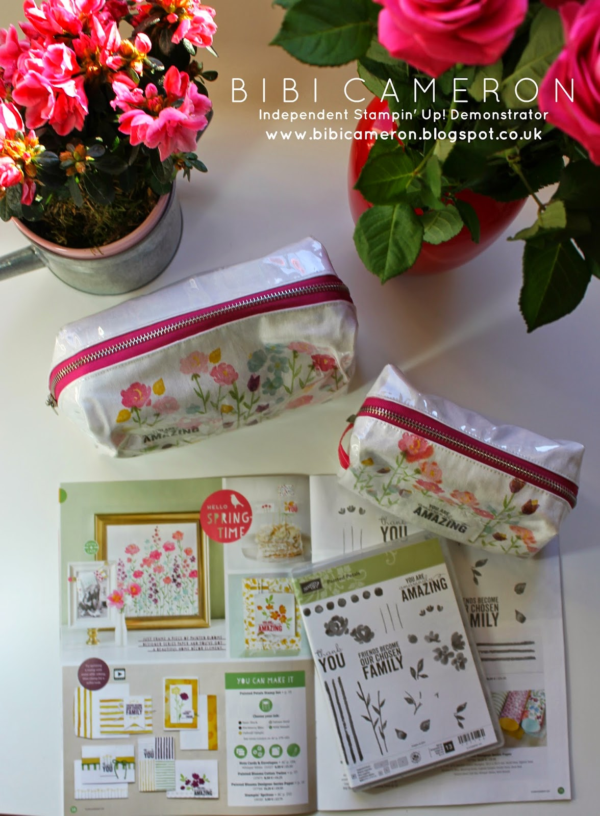 PAINTED PETALS STAMPIN UP ♥ STAMPING ON FABRIC