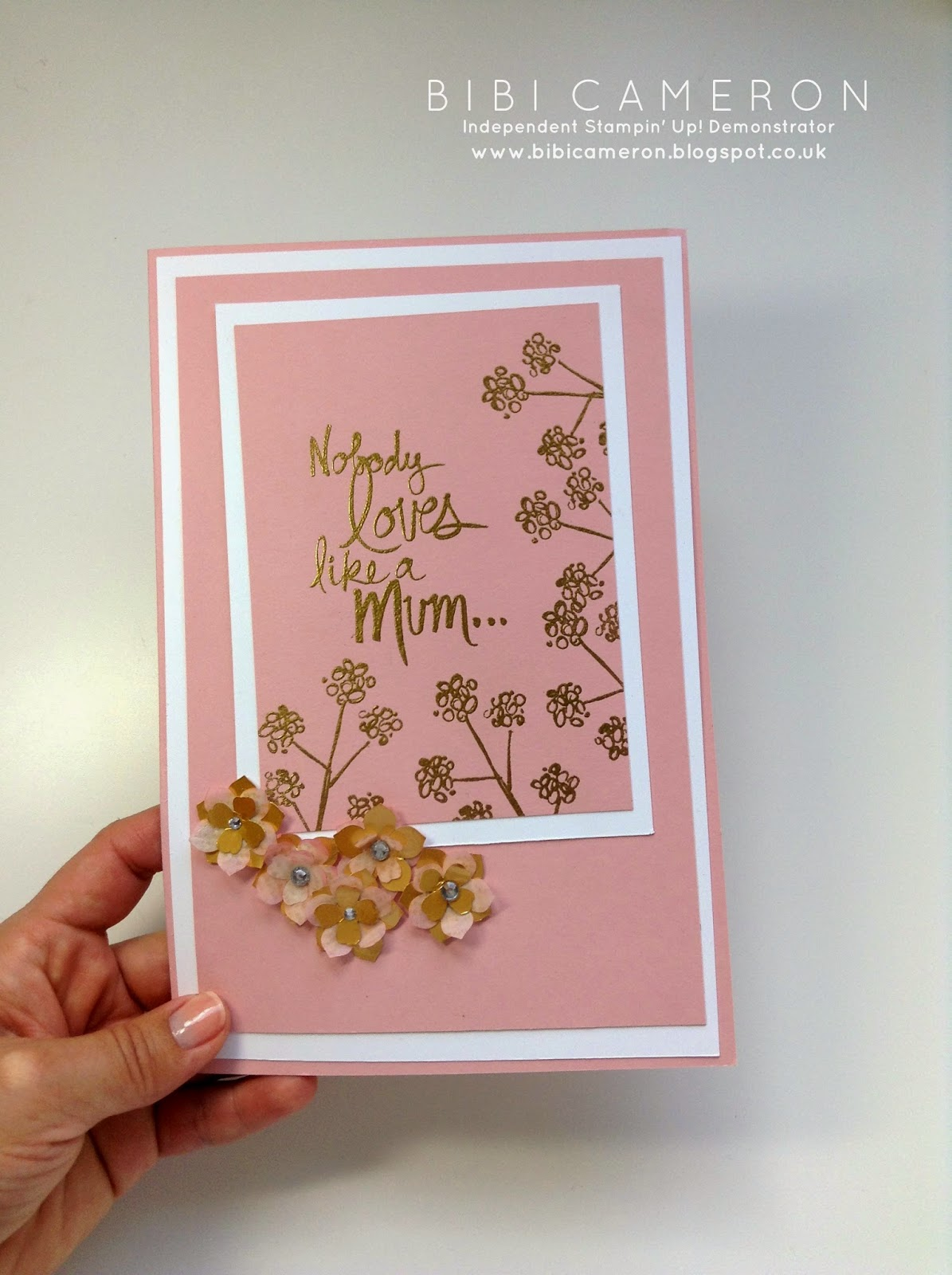 Mum's Love Stampin' Up! ♥ Blushing bride & petite petals