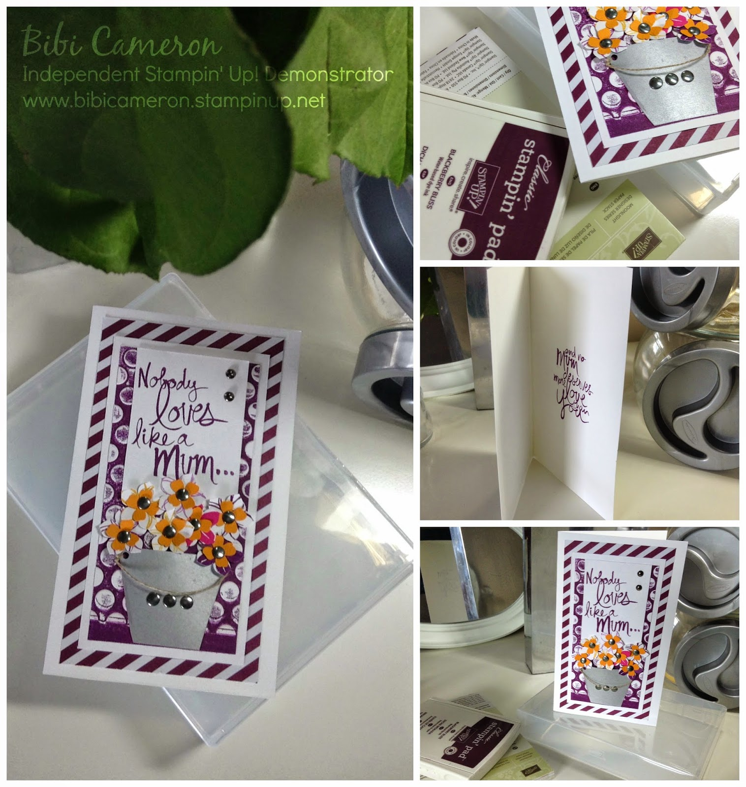 BLACK BERRY BLISS MOTHER'S DAY CARD ♥ MUM'S LOVE STAMP SET FROM STAMPIN UP