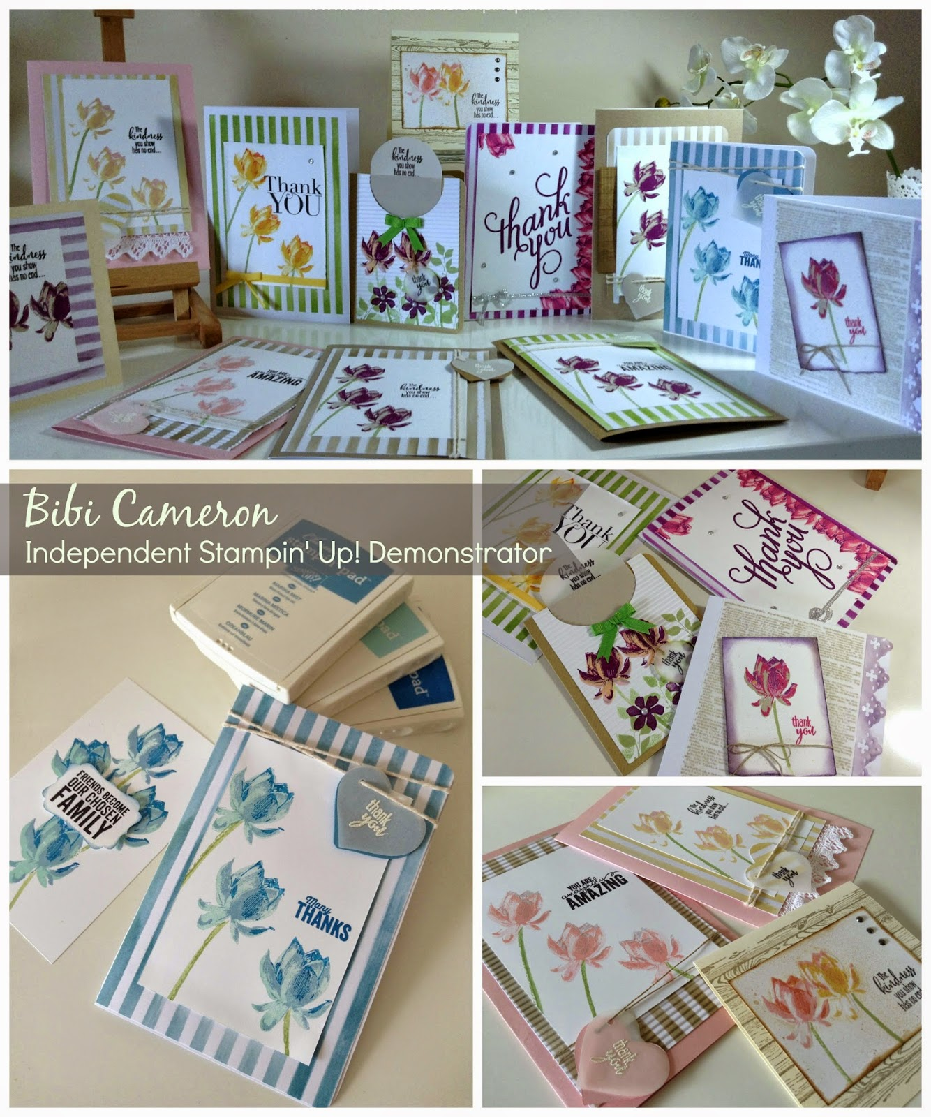 LOTUS BLOSSOM STAMP SET –  2 AND 3 STEP STAMPING TECHNIQUE TUTORIAL
