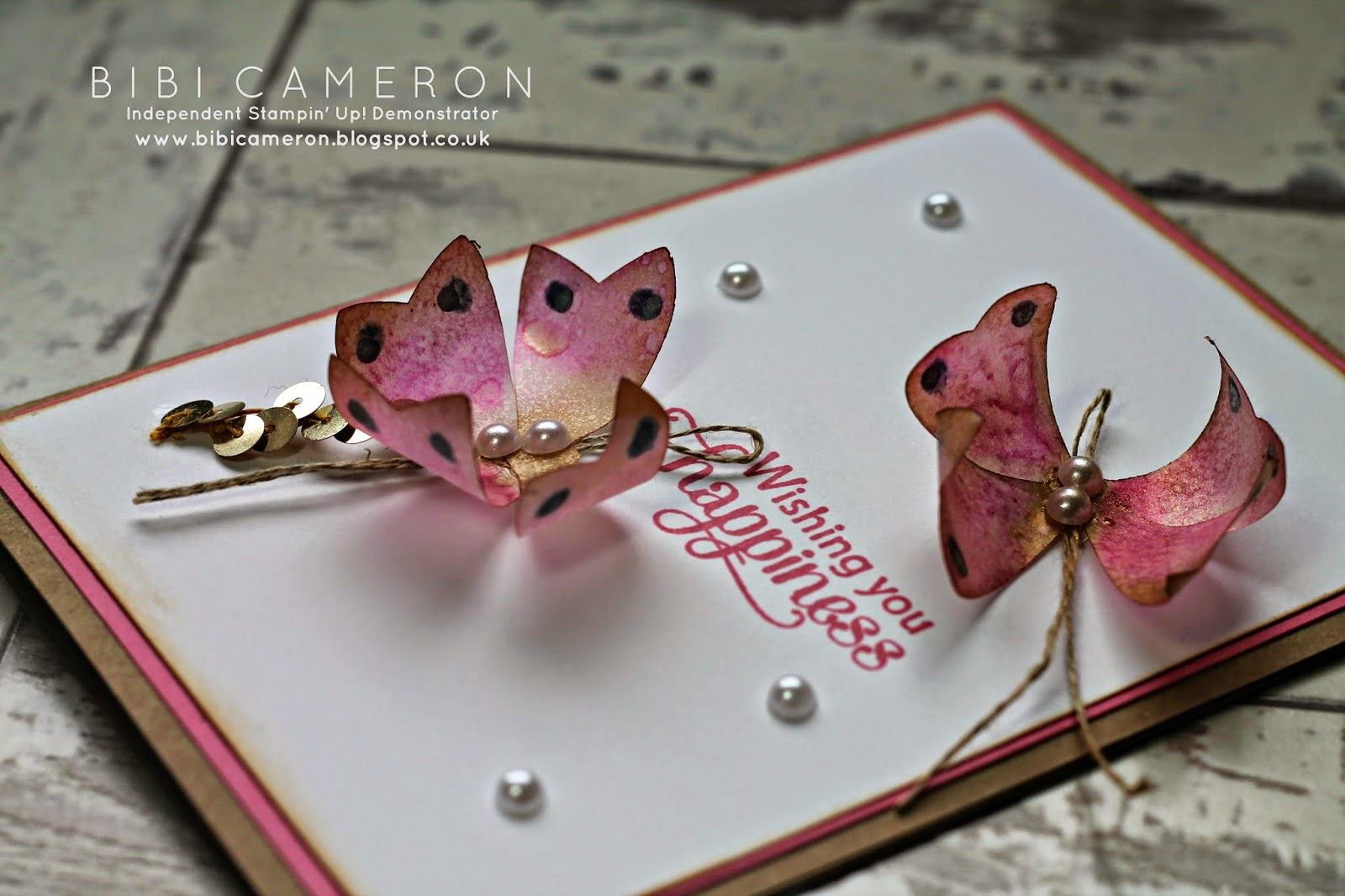 Make butterflies with the  Bow Builder Punch from Stampin Up!