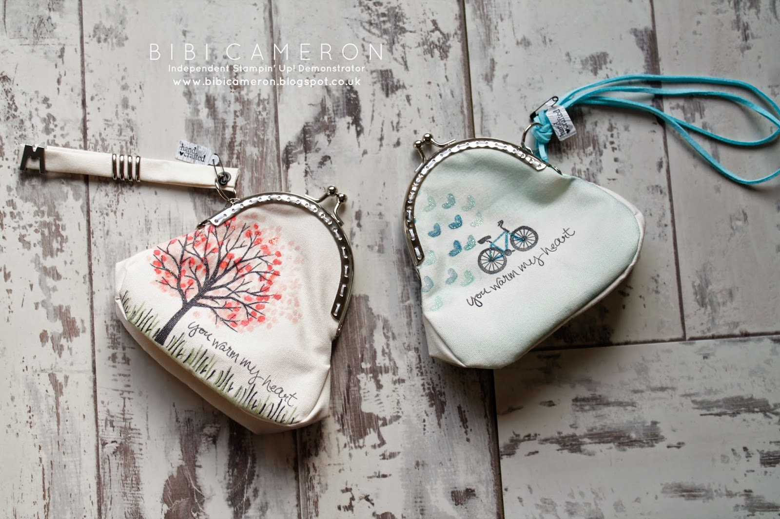 Sheltering tree Stampin Up ♥  Stamp it on Fabric Fabric + Coin Purse+ Box