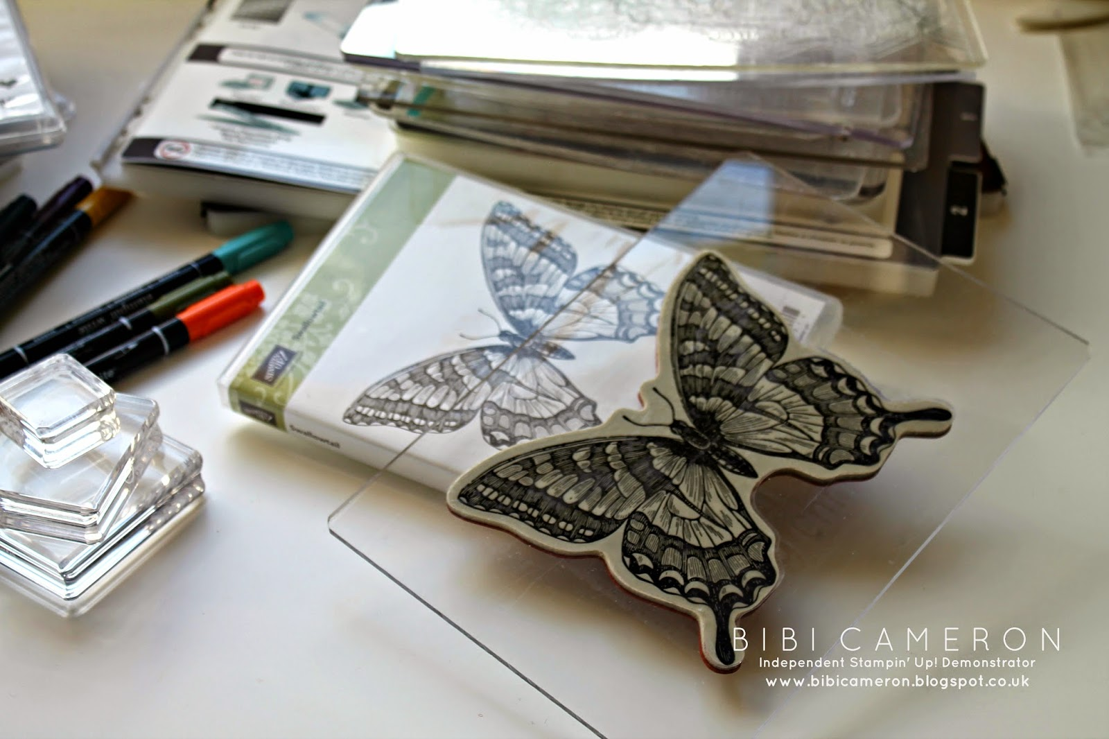 Swallowtail Stampin Up clear block tip