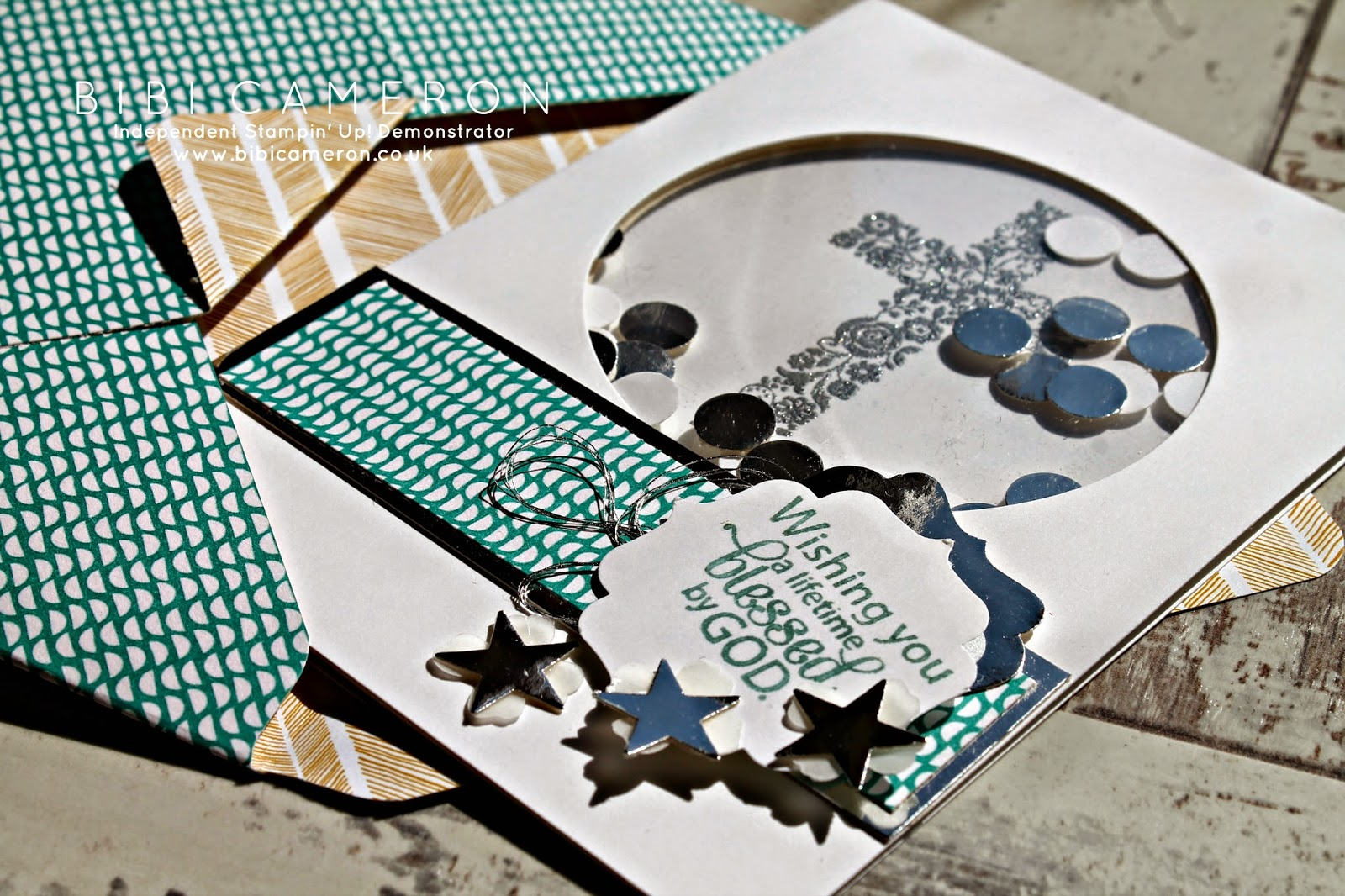 Blessed by God Stampin Up ♥ First communion card idea