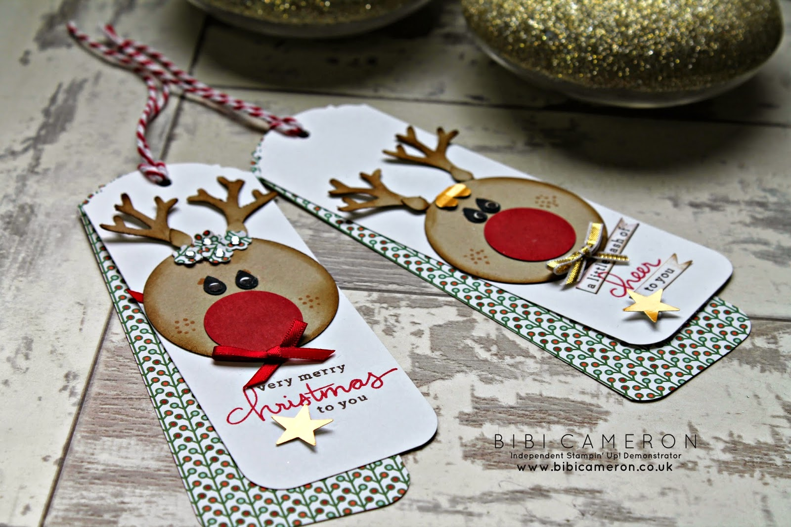 Build a reindeer with the new Tree Builder Punch from Stampin' Up!