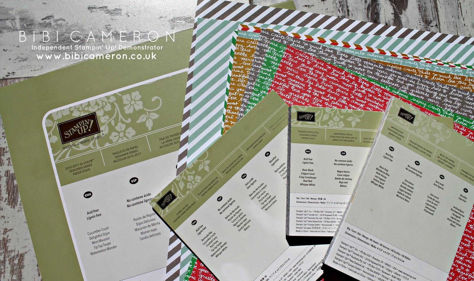 Stampin Up card stock and Designer series paper