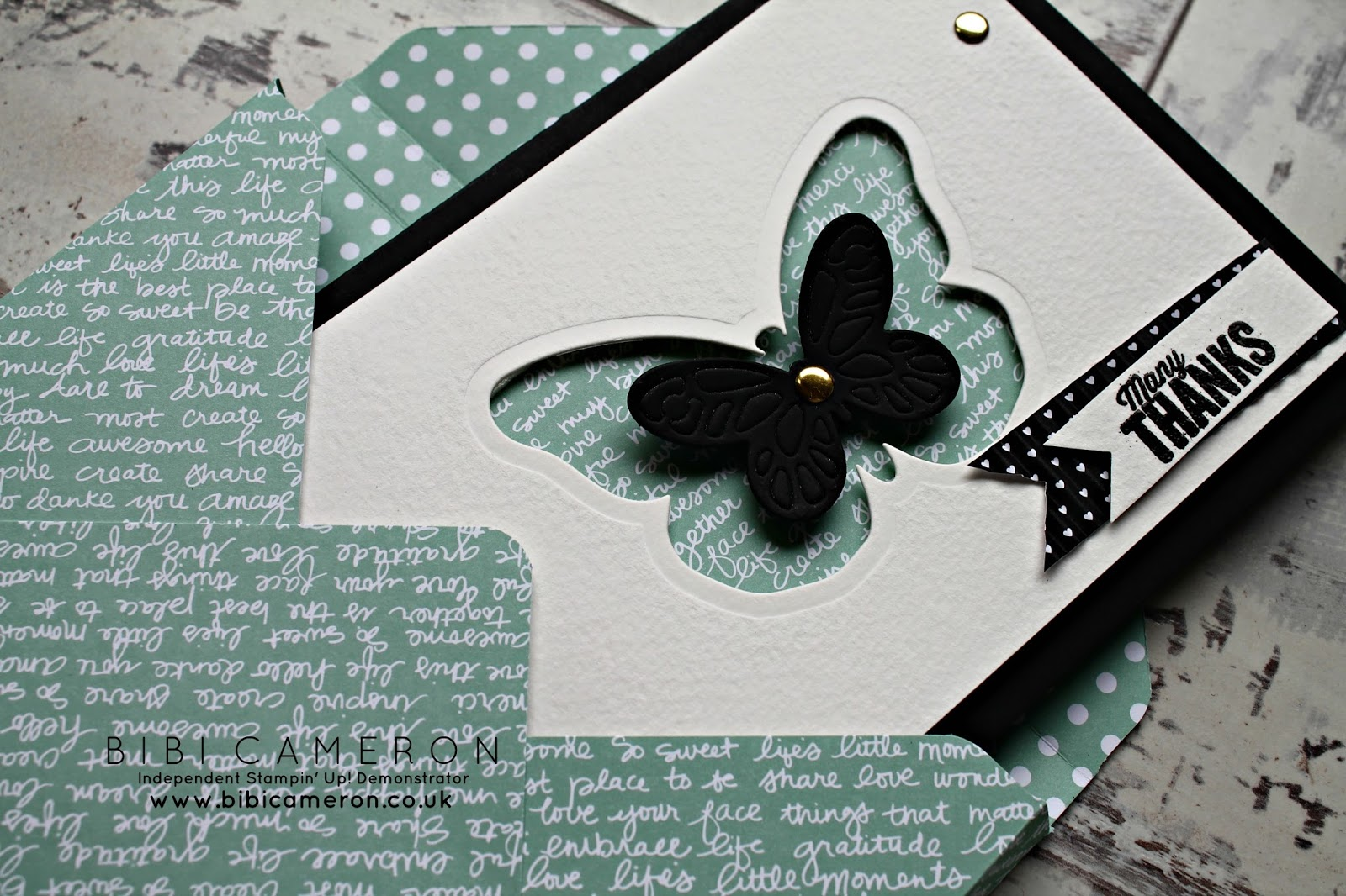 Bold Butterfly framelits dies from Stampin Up