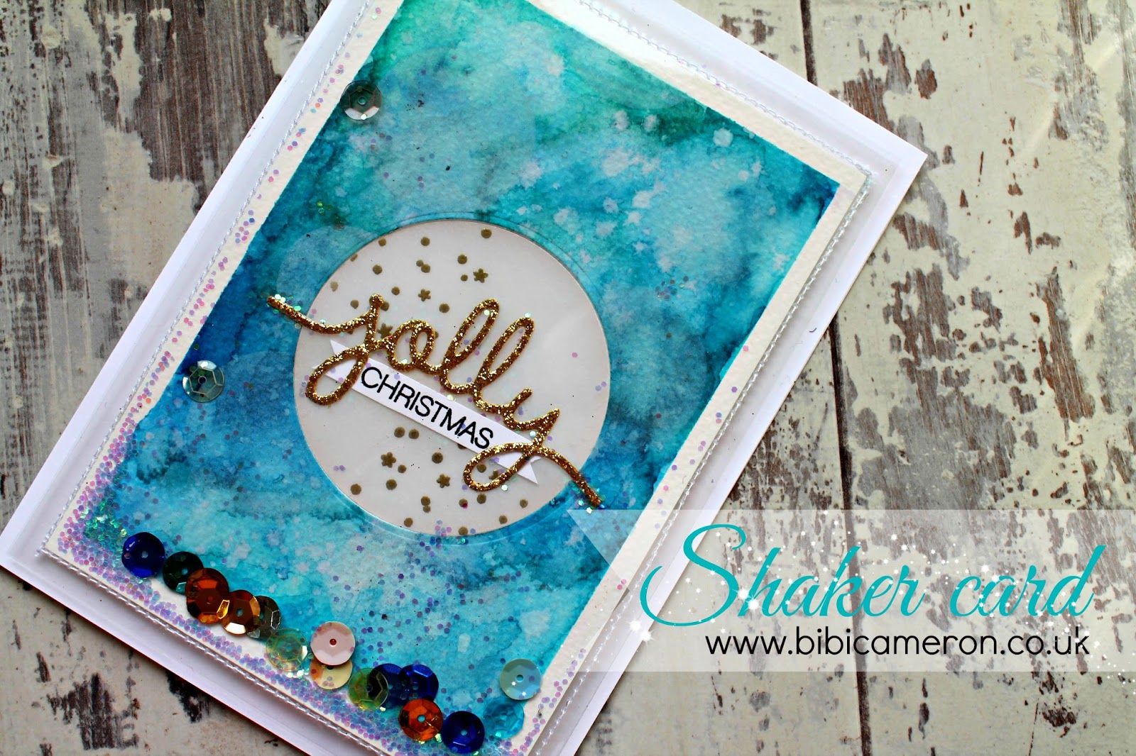 Shaker Card using Christmas Greetings Thinlits Dies + Holly Jolly Stamp set  by Stampin' Up!