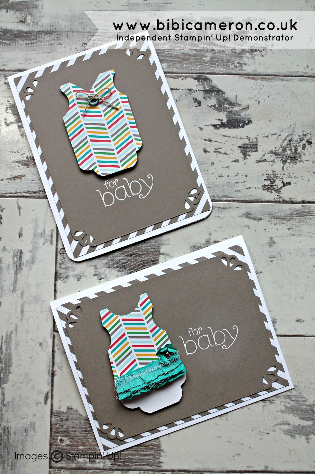 Baby clothes card punch art Stampin Up #GDP003 – Theme Challenge – Baby