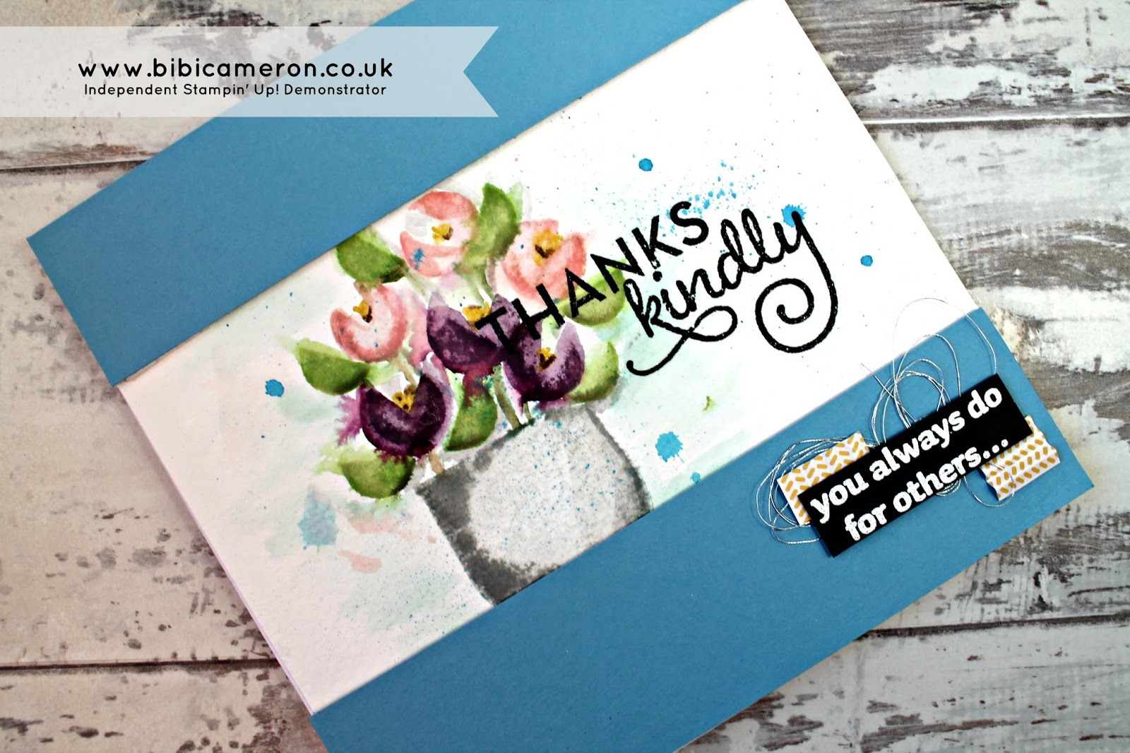 Artistic water colour flower bouquet  with What's your type? Stamp Set by Stampin Up