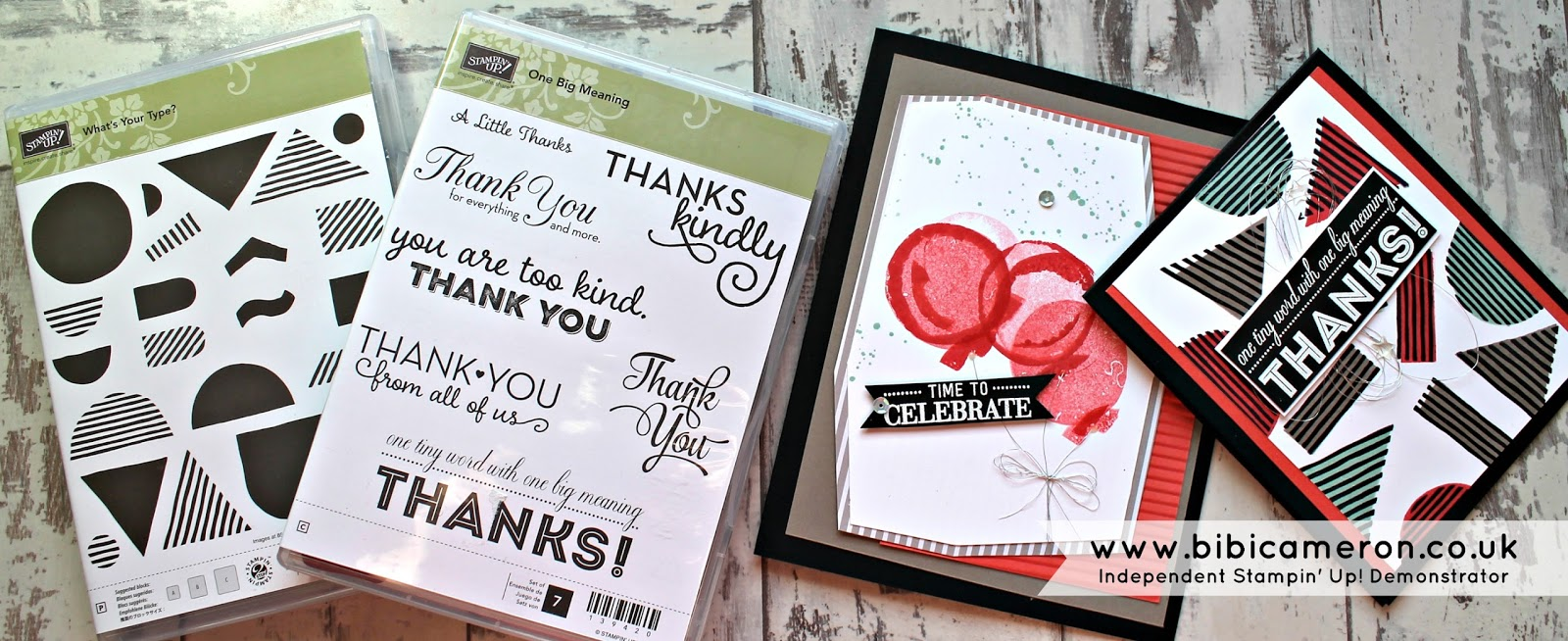 Easy cards using What's your type by Stampin' Up! #GDP009 – Colour Challenge