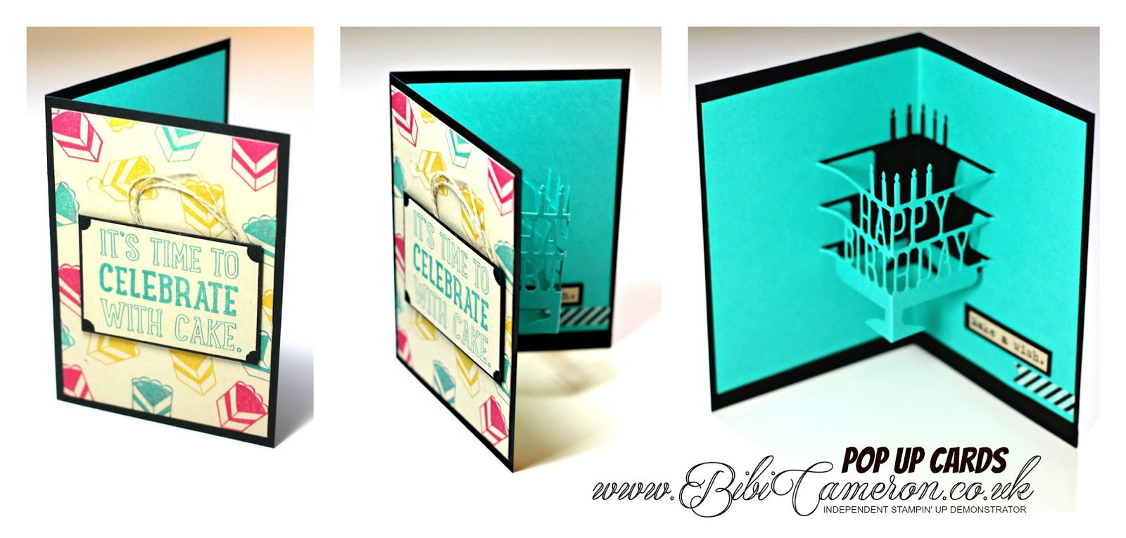 POP UP BIRTHDAY CAKE CARD – PARTY POP UP DIES BY STAMPIN UP #GDP015 – Theme Challenge