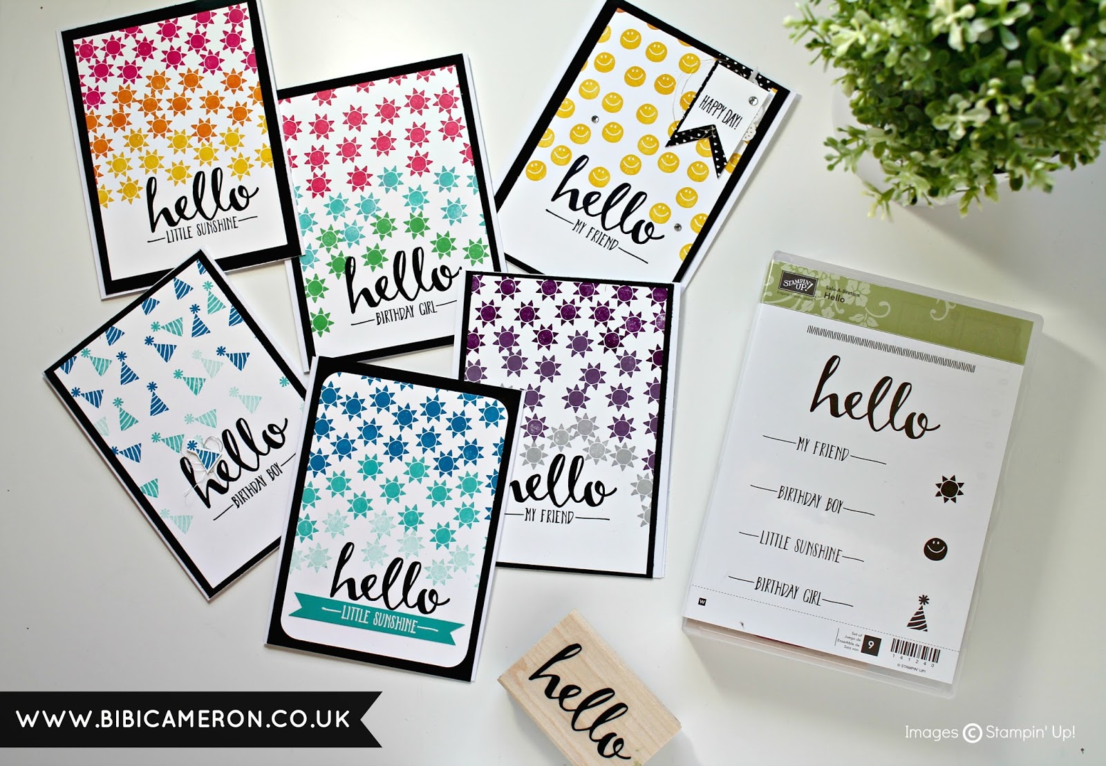 STAMPING BACKGROUNDS WITH SMALL STAMPS + HELLO STAMP SET STAMPIN' UP! SAB