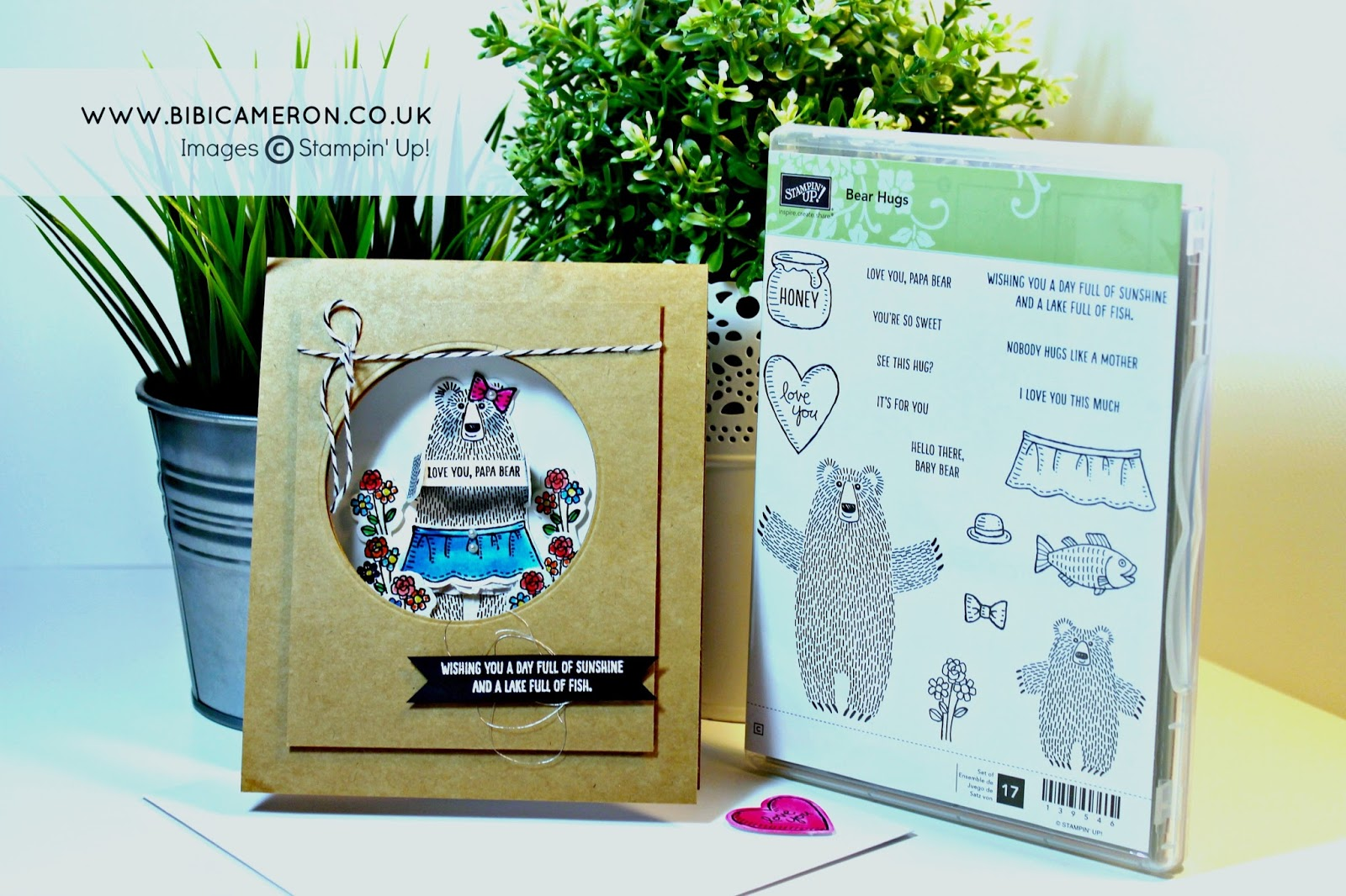 STAMPIN UP BEAR HUGS STAMP SET – FATHER'S DAY CARD  #GDP018 – Sketch Challenge