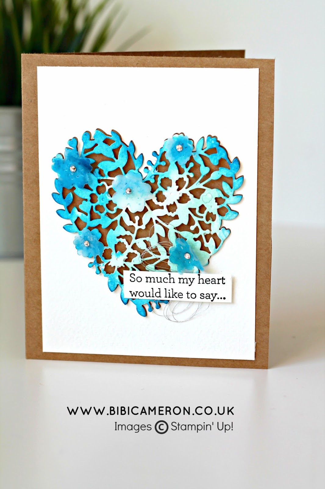 Bloomin' Love and Bloomin' Heart Thinlits Dies Stampin' Up! for Global Design Project #GDP027 Theme: Thank you