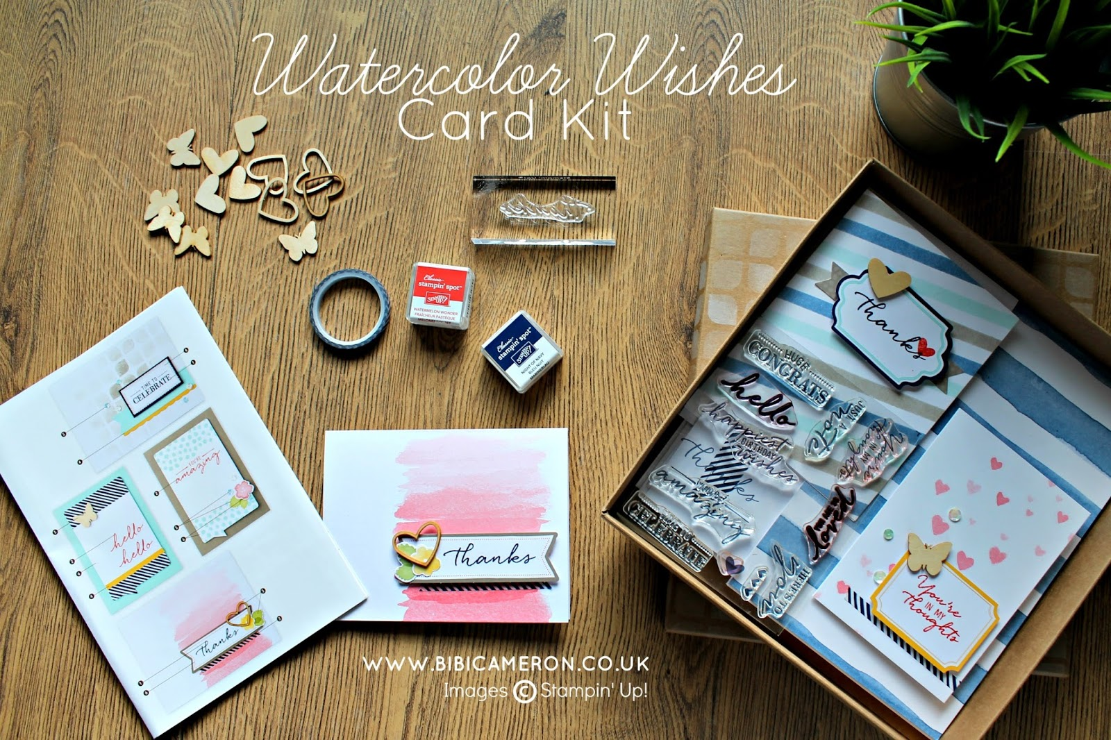 WATERCOLOR WISHES CARD KIT  STAMPIN UP  #GDP032  CASING  KRISTA FRATTIN