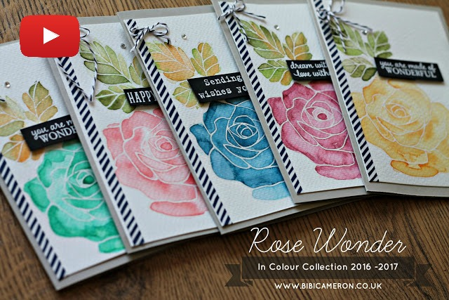 STAMPIN UP ROSE WONDER + NEW IN COLOR INKS 2016 -2018 FOR TGIF #56
