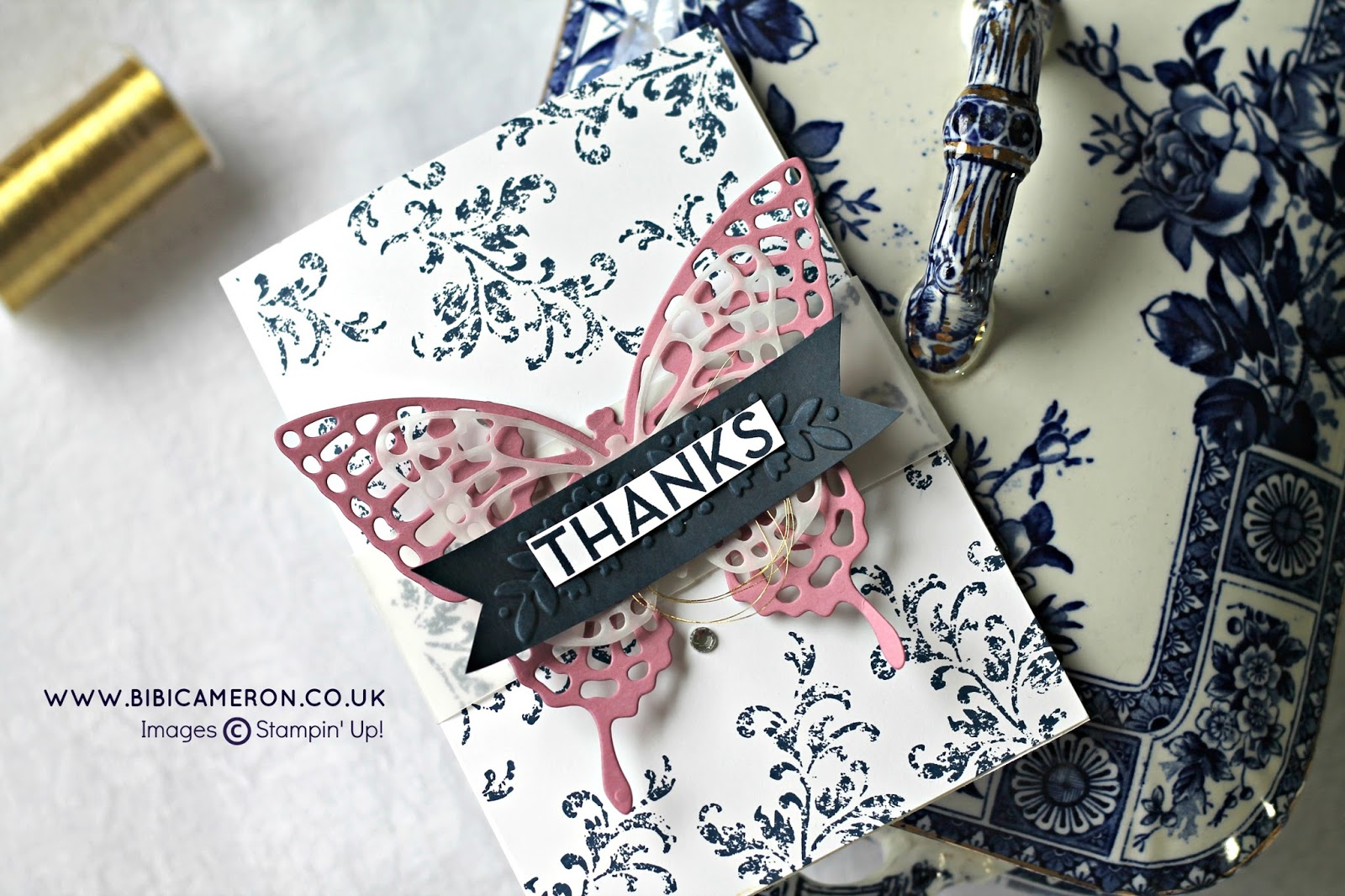STAMPIN UP BUTTERFLIES THINLITS DIES FOR GLOBAL DESING PROJECT GDP041 – Colour Challenge