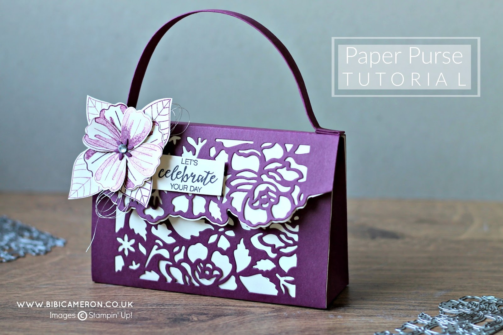 PAPER PURSE DETAILED FLORAL THINLITS DIES   #GDP048