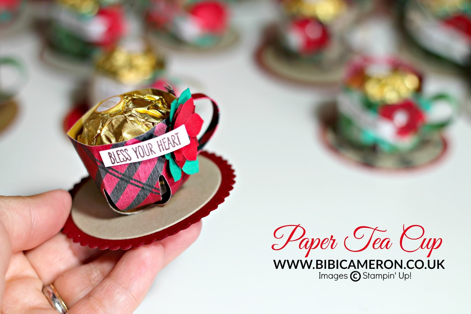 Paper Tea Cup Tutorial  Swaps for Stampin' Up! Convention 2016
