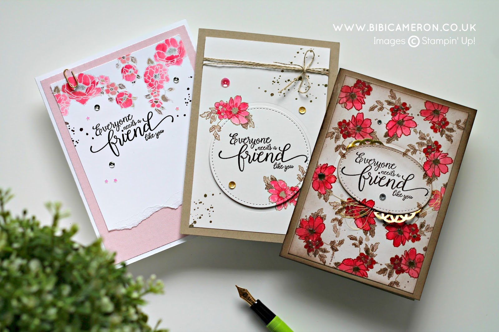 Stampin' Up! Suite Sentiments and Timeless Love Stamp Sets – GDP065