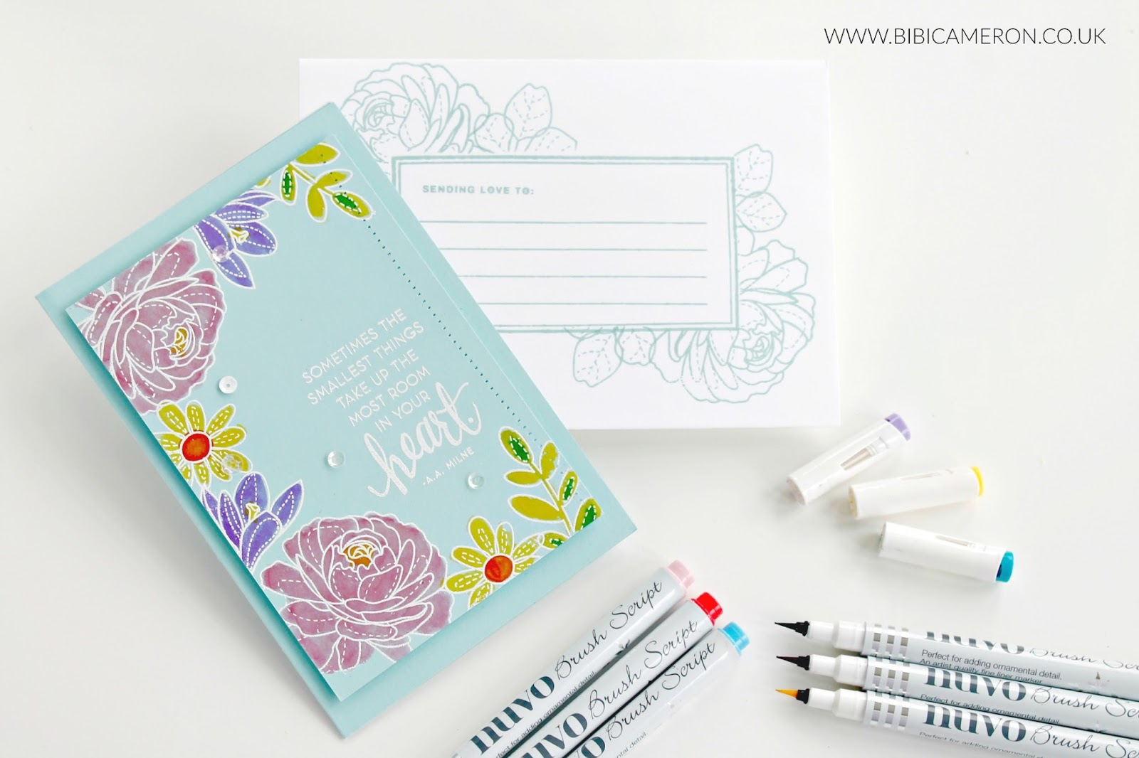 SSS More Spring Flowers Stamp Set  and Nuvo Script Pens
