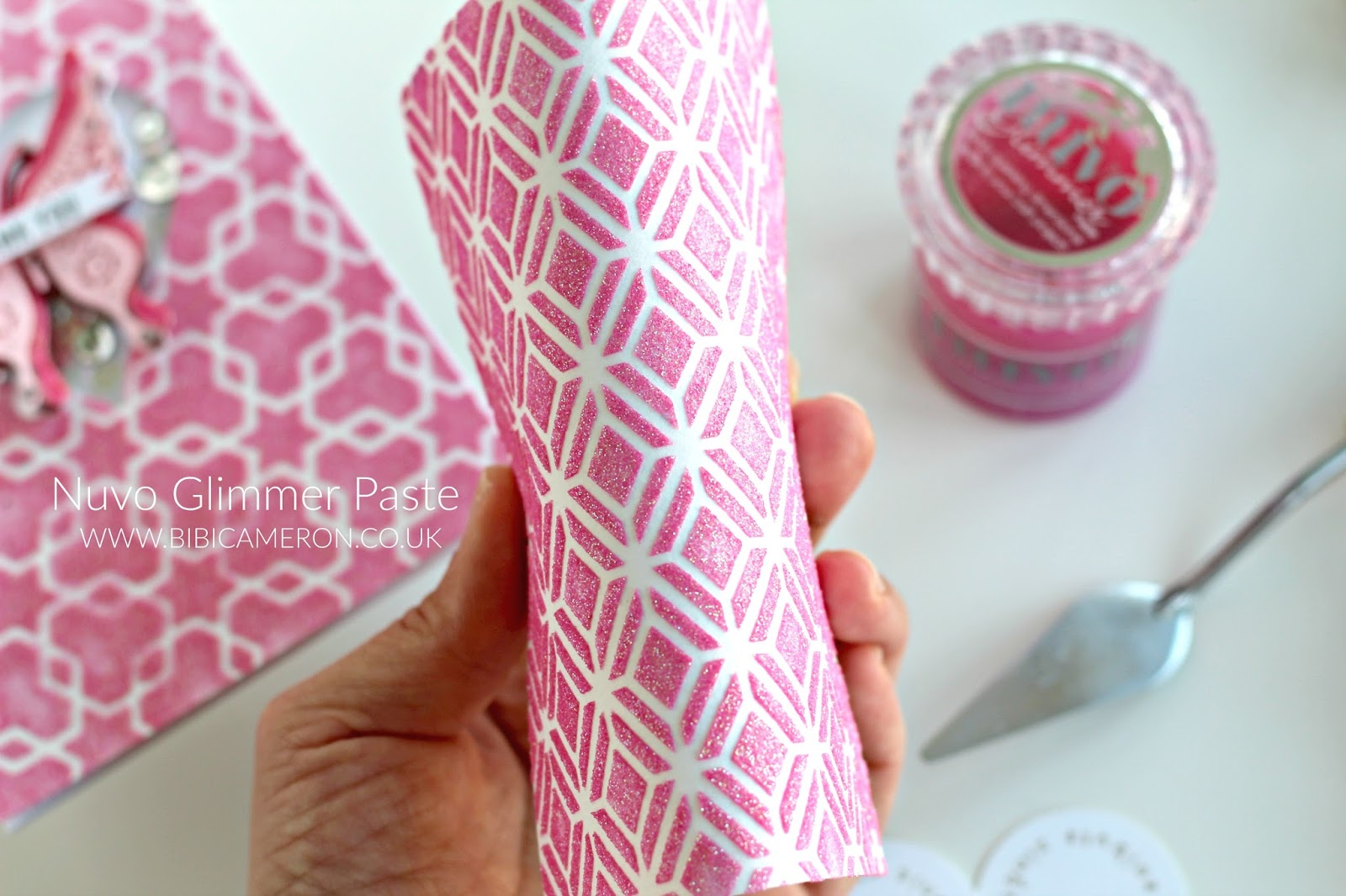 Nuvo Glimmer Paste by Tonic Studios | Pink Shaker Card