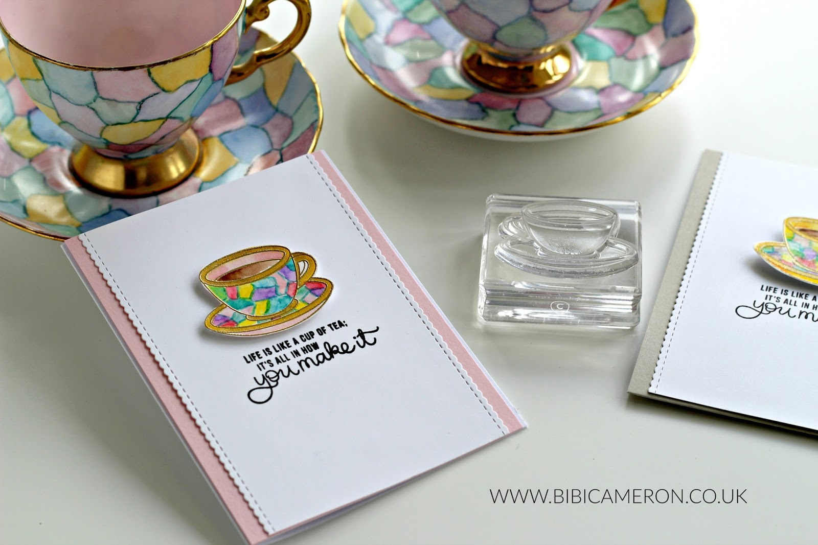 3 card ideas with Coffee and Tea Stamp Set  by Simon Says Stamps.