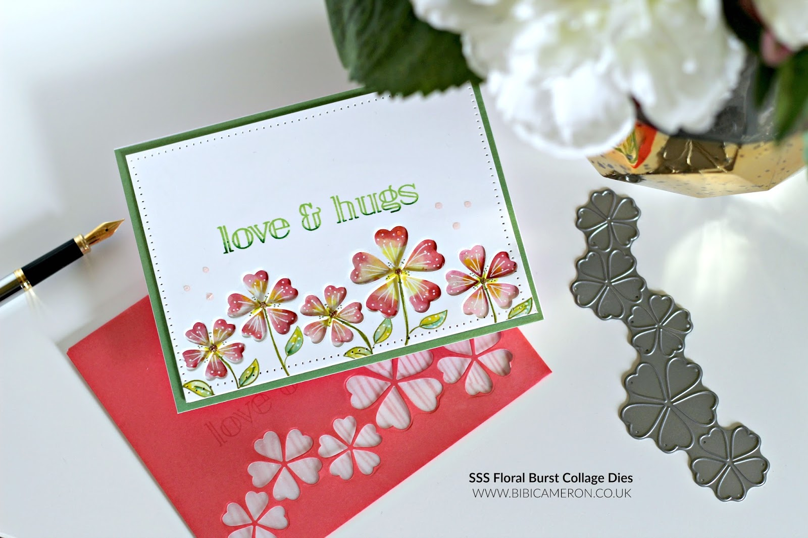 Die Cut Colouring idea with SSS Floral Burst Collage Die