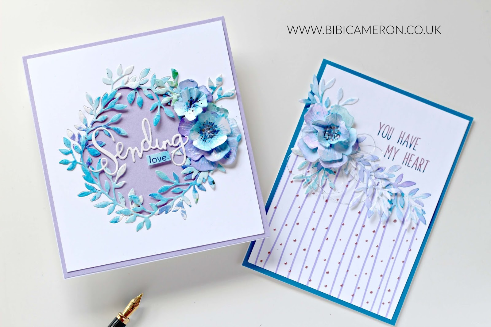Inlaid Die Cutting with SSS Forget Me Not Wafer Dies