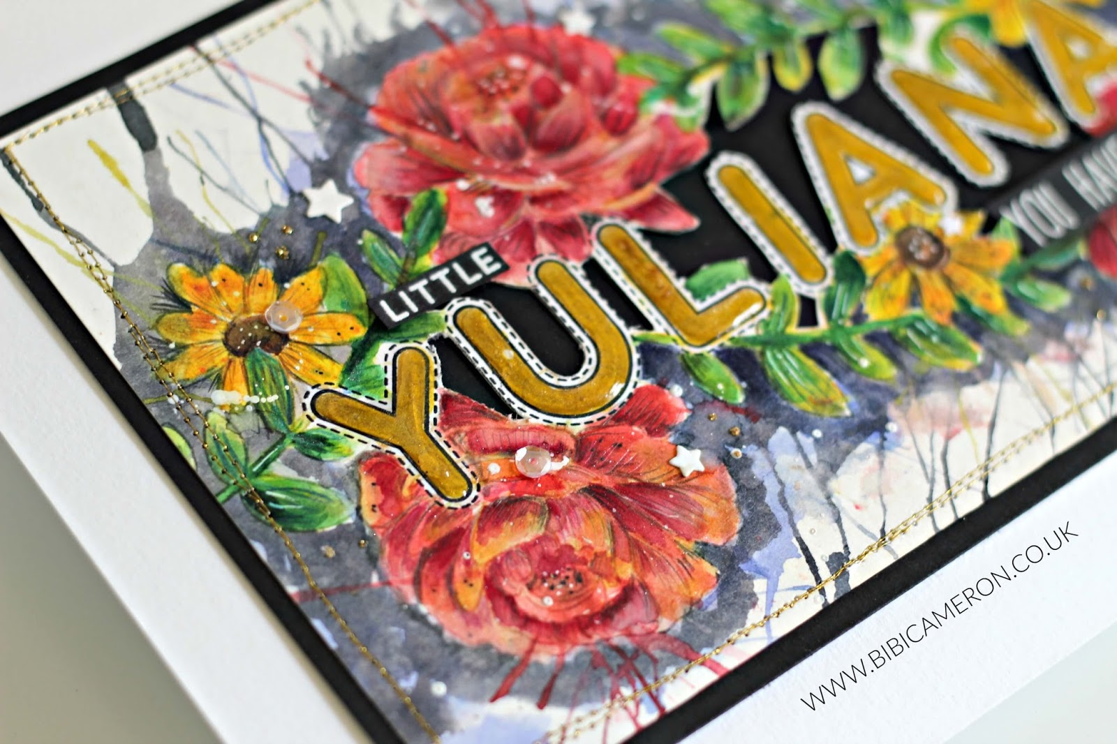 Watercolour Flowers in Yuliana's memory #niunamenos