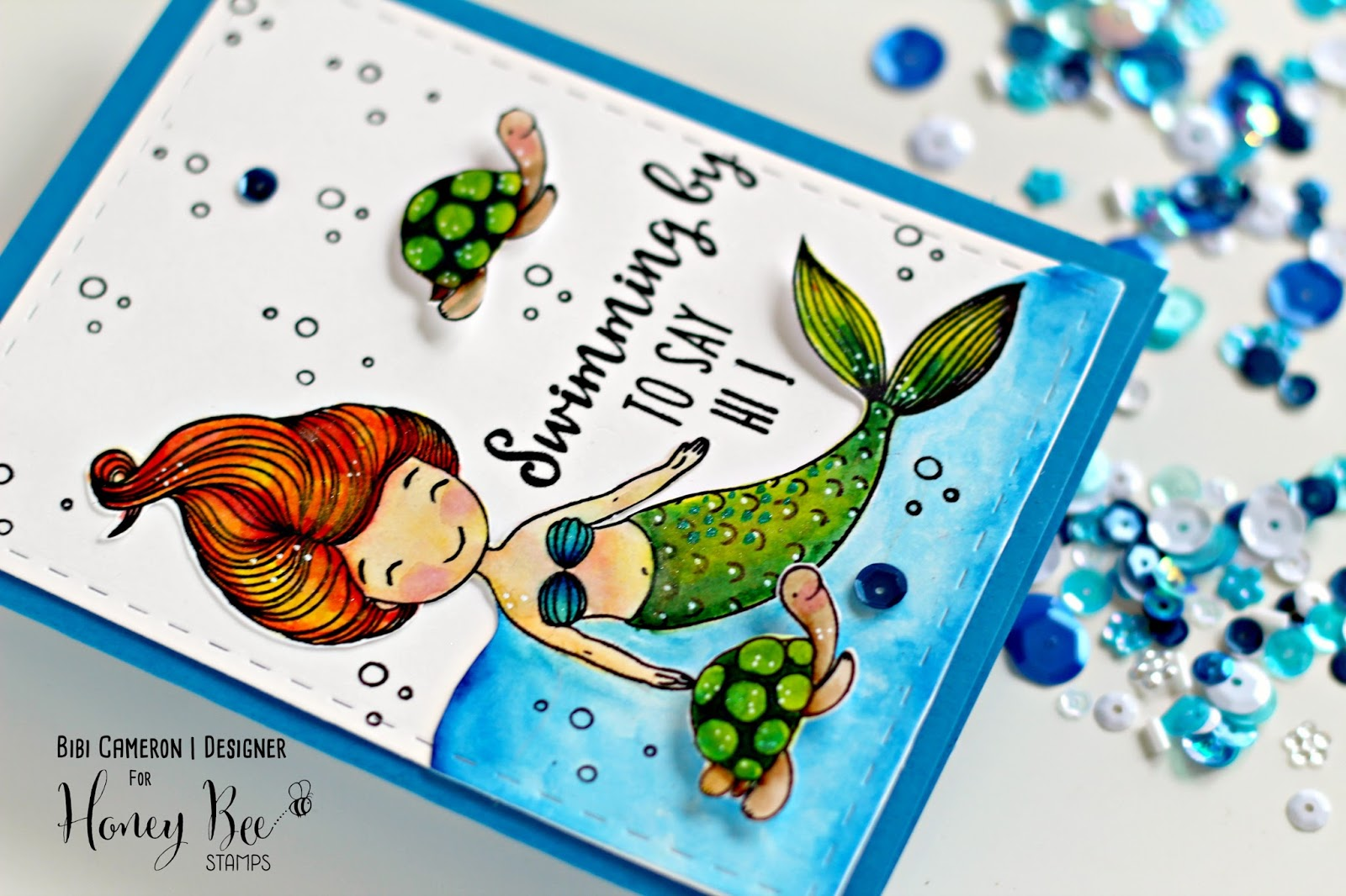 Swimming by Stamp Set  by Honey Bee Stamps