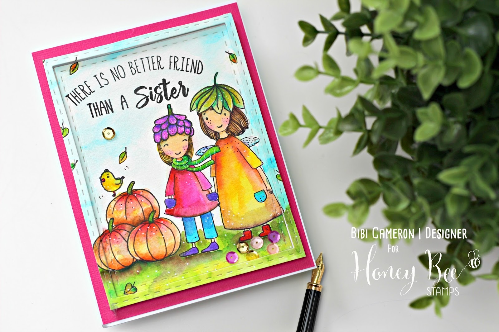 Coloring Tips with Acorn Sisters by Honey Bee Stamps | Video Post