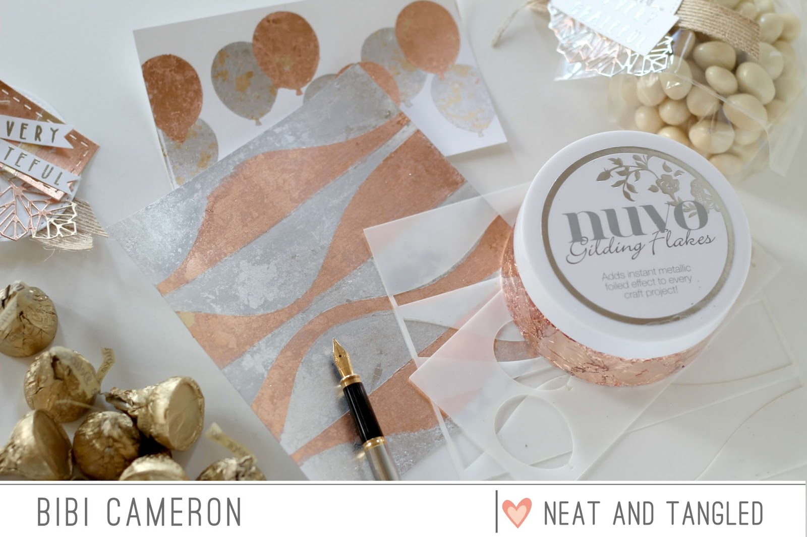 Stencils and  Gilding Flakes  Backgrounds | Video Post