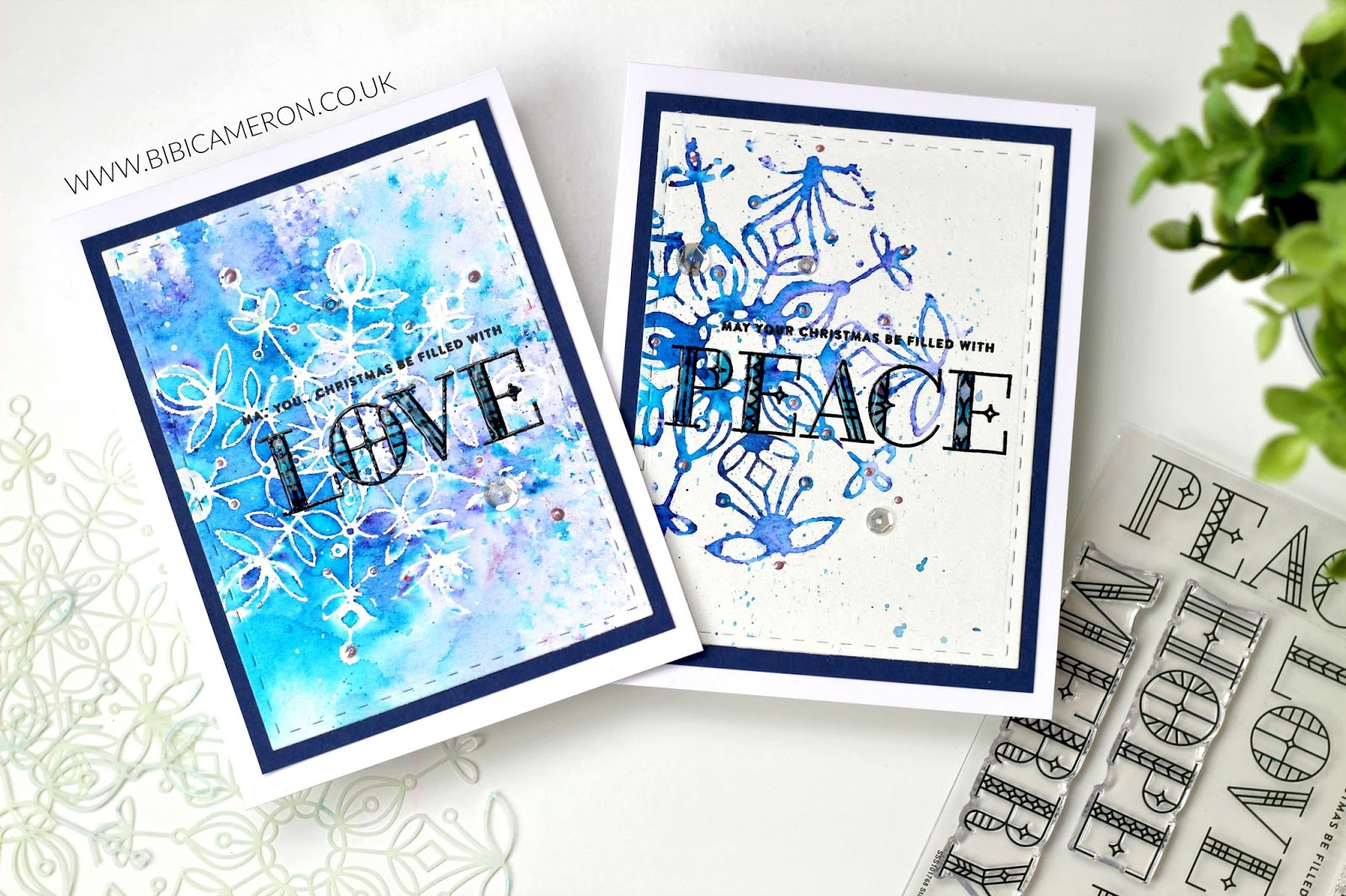 Frozen Fractals Stencils + Stained Glass Stamp Set by Simon Says Stamp | VIDEO POST