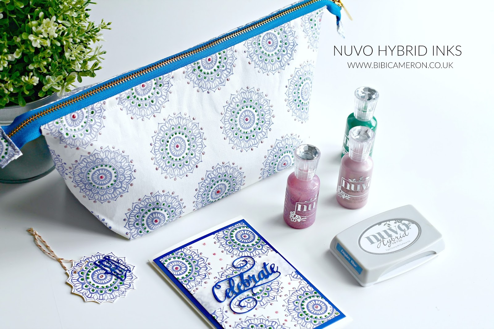 Stamping on Fabric with  Nuvo Hybrid Inks