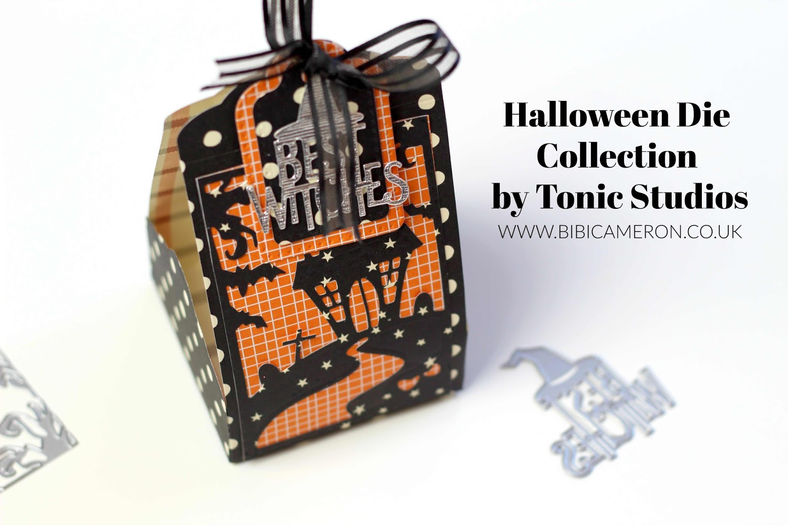 4 packaging ideas with Halloween dies by Tonic Studios