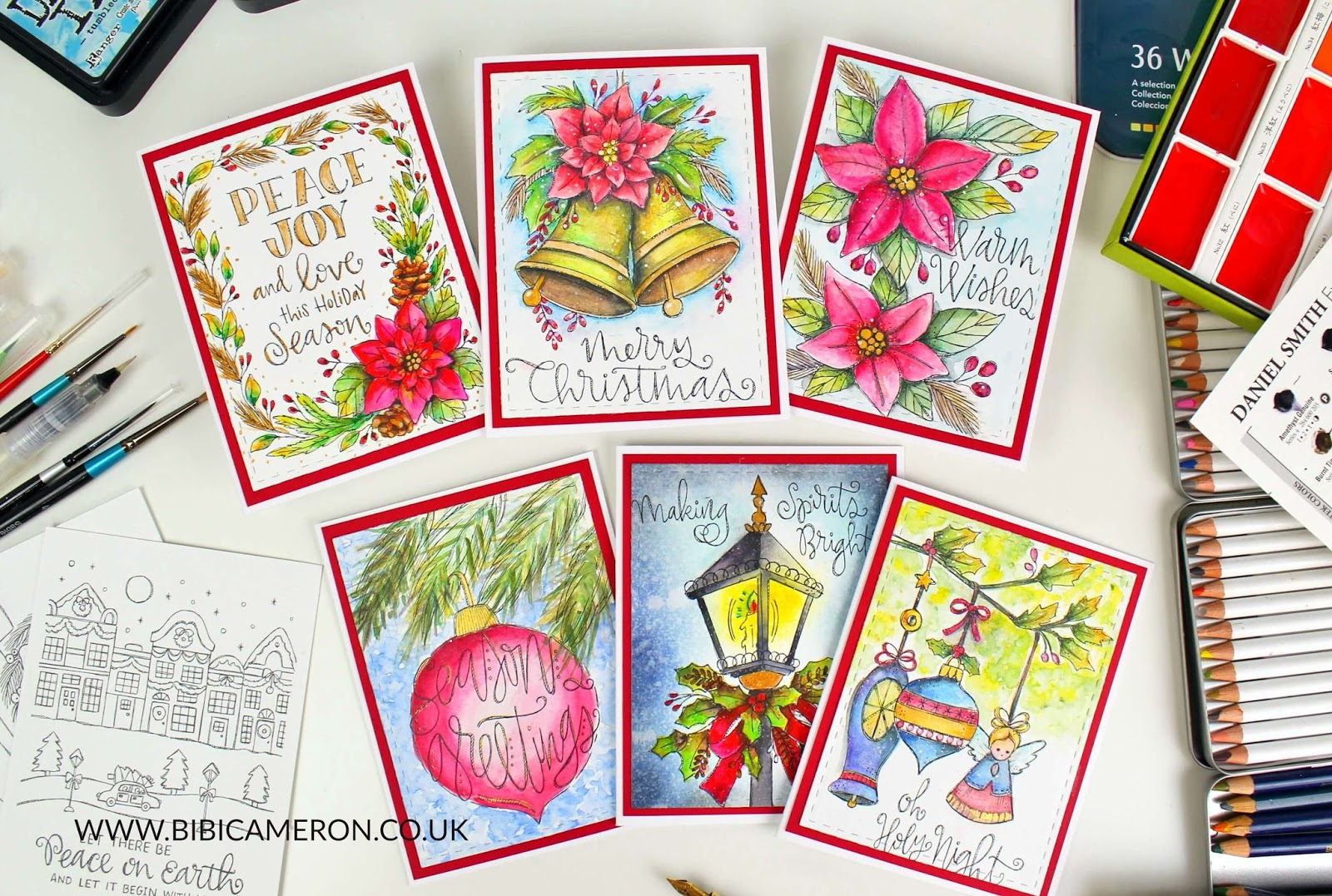 Suzy's Classical Christmas Watercolor Prints #SSSCyberWeek