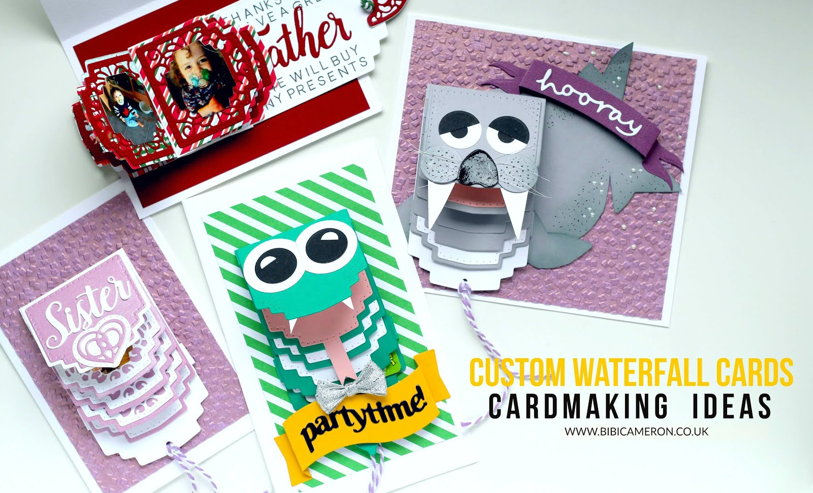 Custom Waterfall cards with  Tonic Studios Craft Kit #4 | Video Post