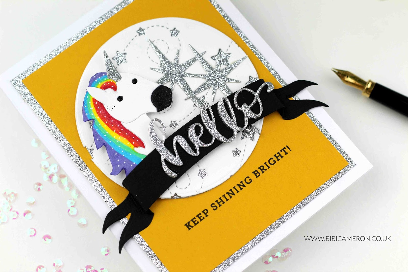 Unicorn card with  Simon Says Stamps Supplies| #SIMONSAYSLOVE