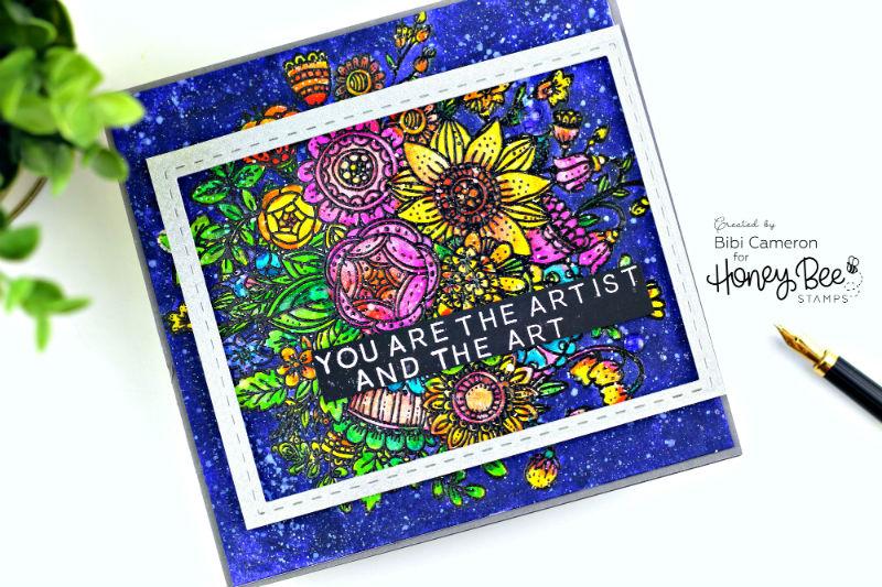 Zen Bouquet  by Honey Bee Stamps  + Arteza Real Brush Pens