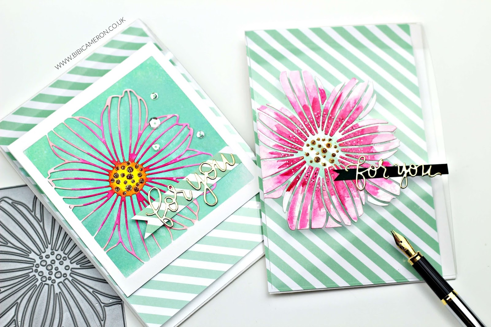 Positive and Negative Die cuts + transparencies |SSS Cosmo Flower Frame Wafer Die
