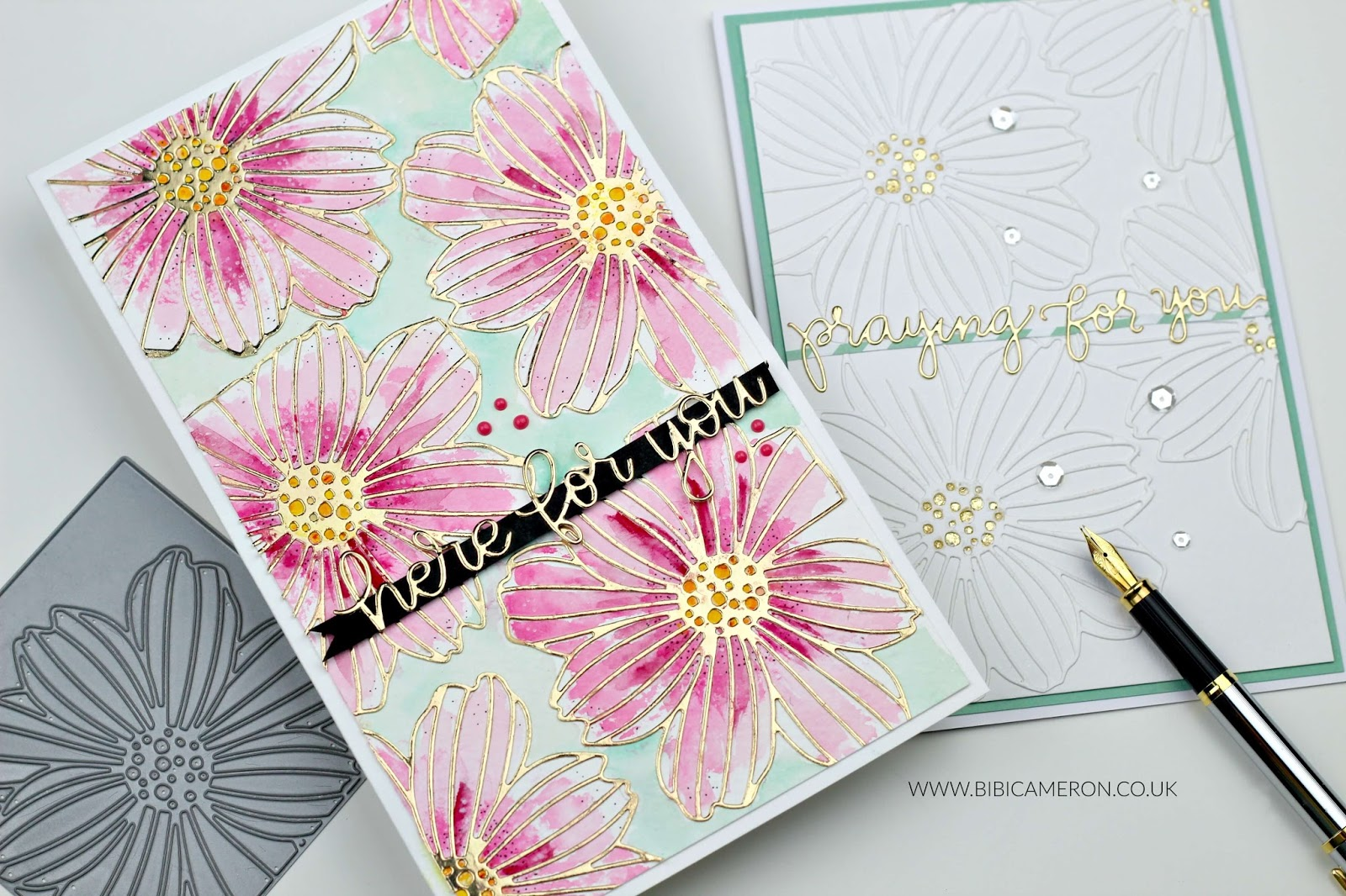 Faux embossing with die cuts | Cosmo Wafer Die by Simon Says Stamps
