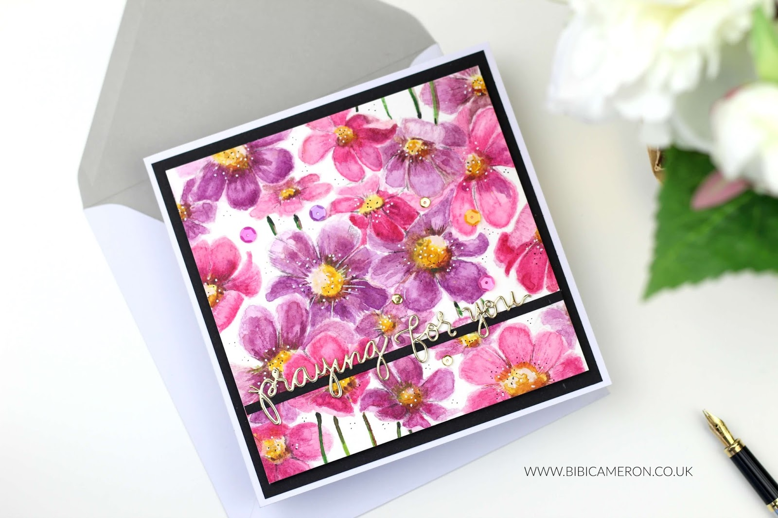 Watercolor for cardmakers with Cosmos Background | Simon Says  Stamp