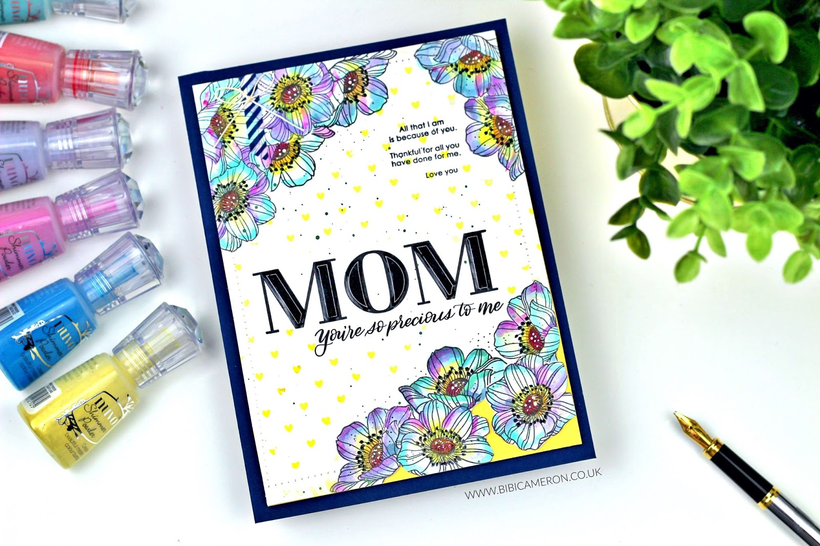 Mother's day Card with  Mom Flowers by Simon Says Stamp