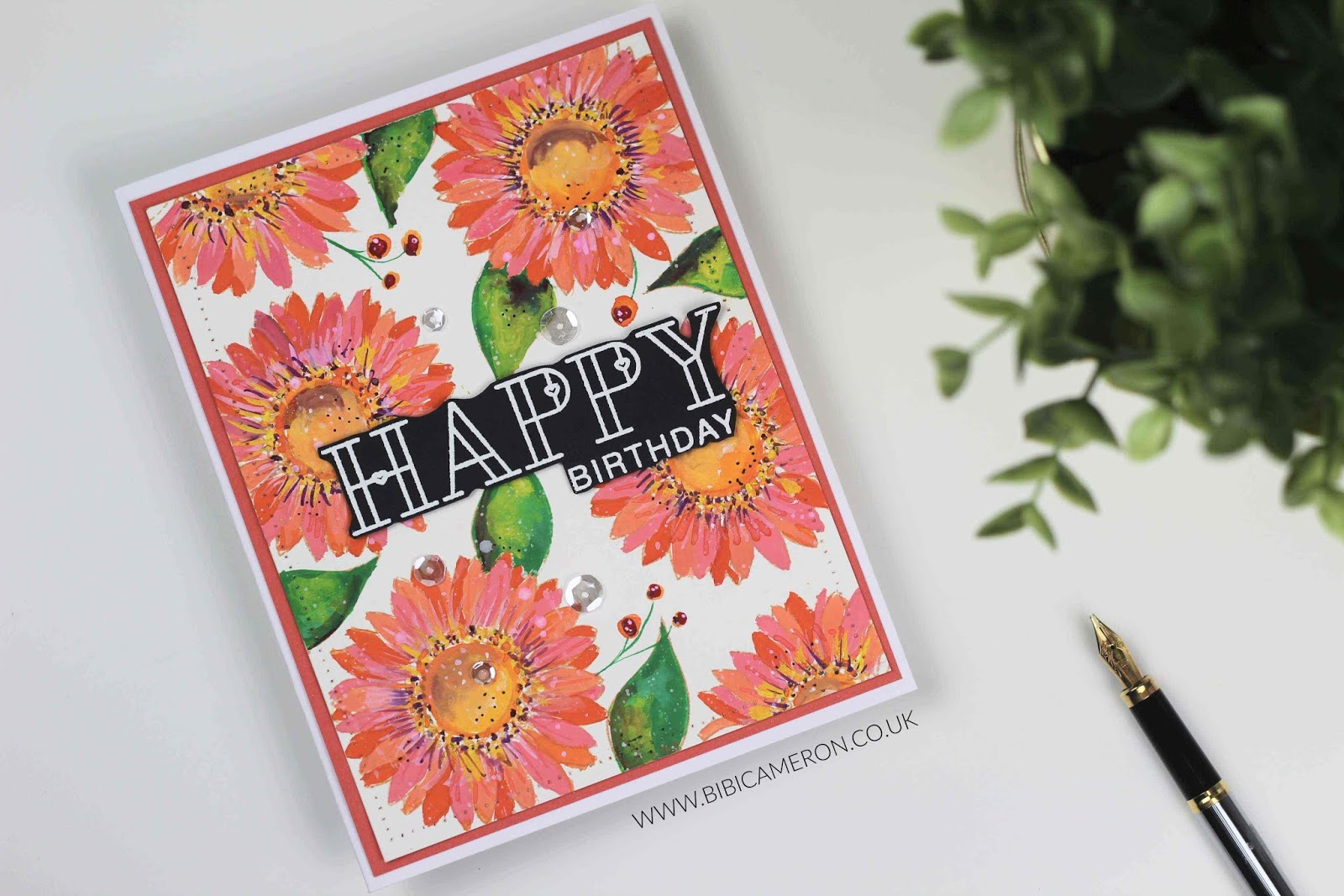 Summer Flowers by Simon Says Stamp | Gouache Paint