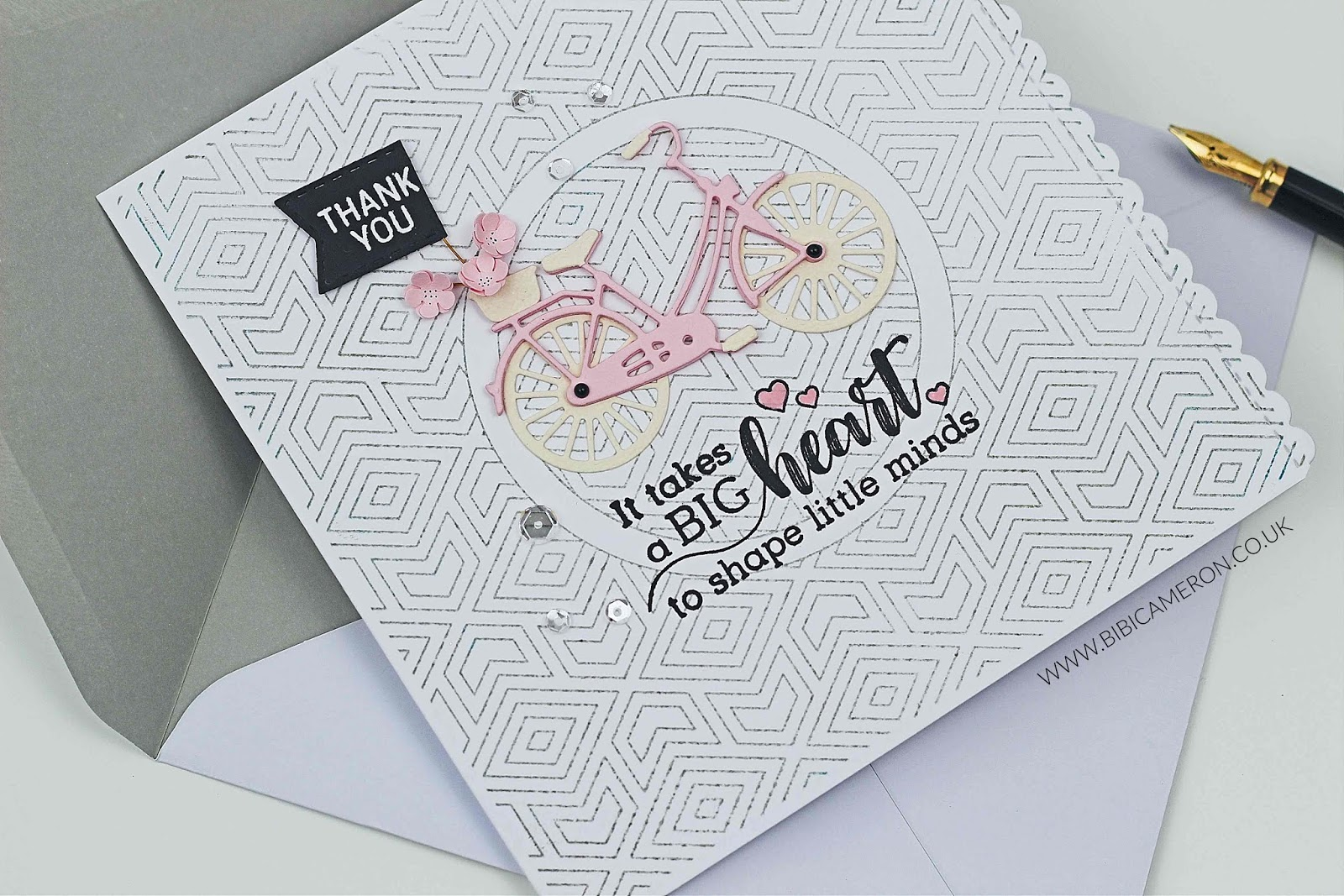 Thank you Teacher Card idea – with SSS Classic Bike Die