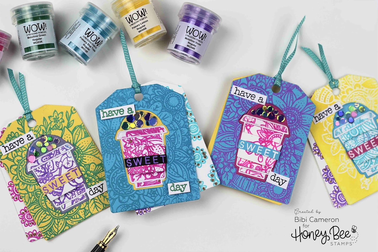 WOW embossing powders and Honey Bee Stamps Blog Hop
