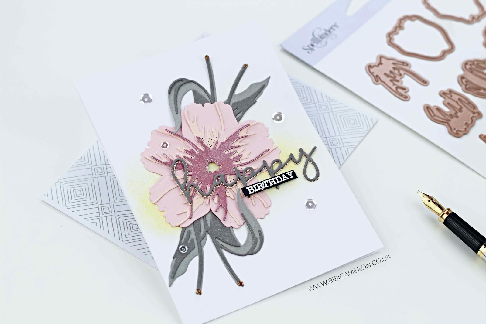 Winner Spellbinders Indie Collection Blog Hop + Layered Tulips
